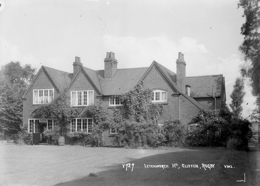 Letchworth House, Clifton upon Dunsmore.  1930s |  IMAGE LOCATION: (Warwickshire County Record Office)