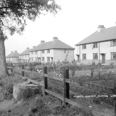 Clifton upon Dunsmore.  Council houses