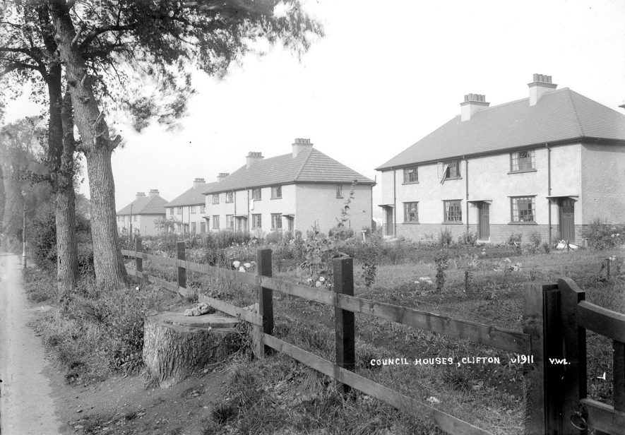 Council Houses in Clifton upon Dunsmore.  1930s |  IMAGE LOCATION: (Warwickshire County Record Office)