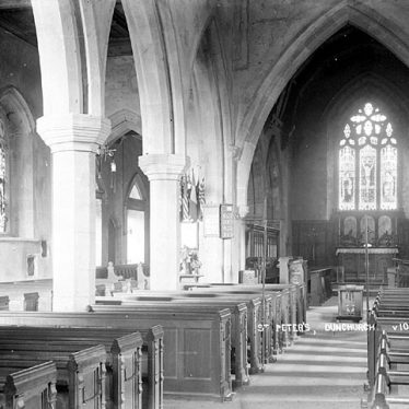 Dunchurch.  St Peter's church, interior