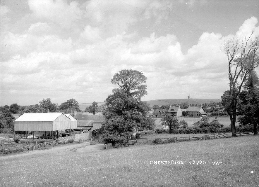 View overlooking Chesterton.  1950s |  IMAGE LOCATION: (Warwickshire County Record Office)