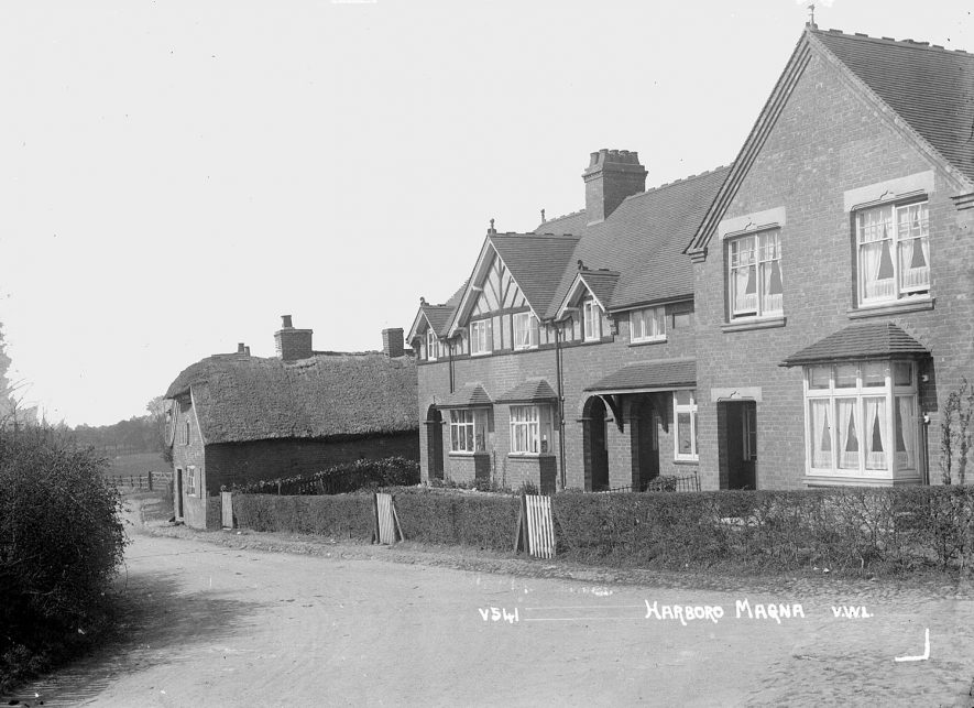 Street scene in Harborough Magna.  1950s |  IMAGE LOCATION: (Warwickshire County Record Office)