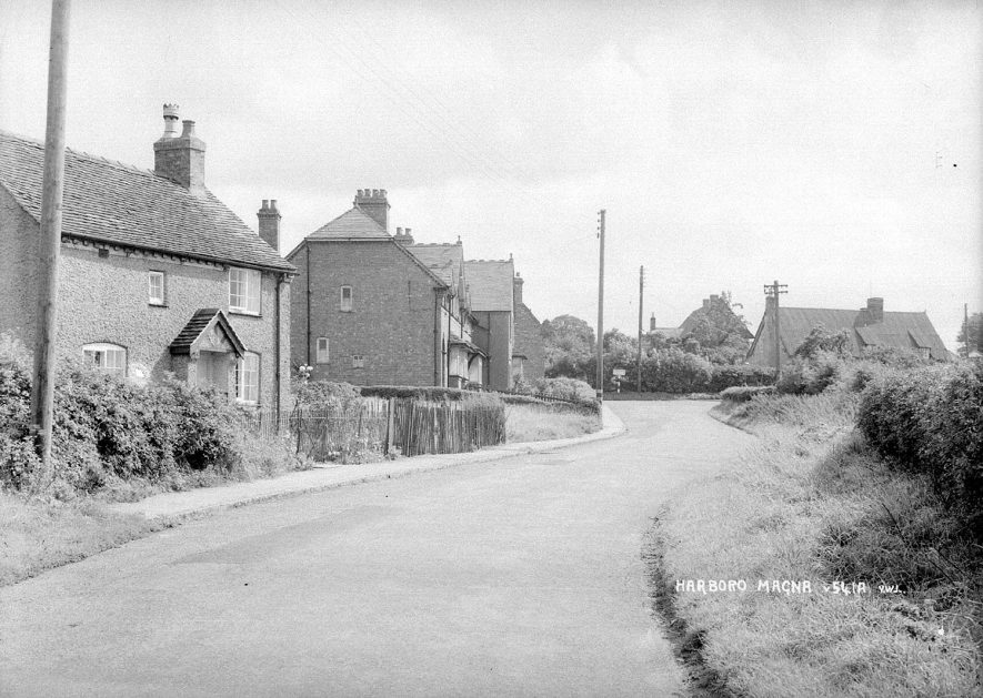 Street scene at Harborough Magna.  1950s |  IMAGE LOCATION: (Warwickshire County Record Office)