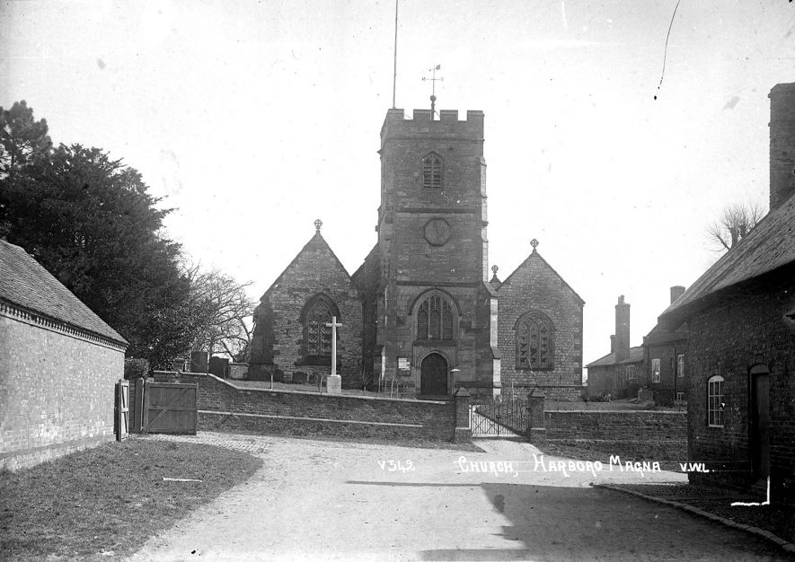 View of All Saints church at Harborough Magna.  1950s |  IMAGE LOCATION: (Warwickshire County Record Office)