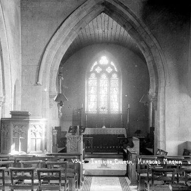 Harborough Magna.  All Saints church, interior