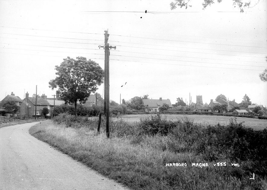 View of the village of Harborough Magna.  1940s |  IMAGE LOCATION: (Warwickshire County Record Office)