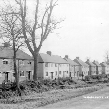 Harborough Magna.  Row of new houses