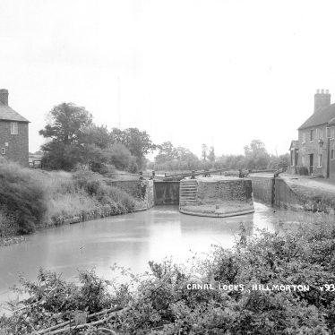 Hillmorton.  Oxford Canal and locks