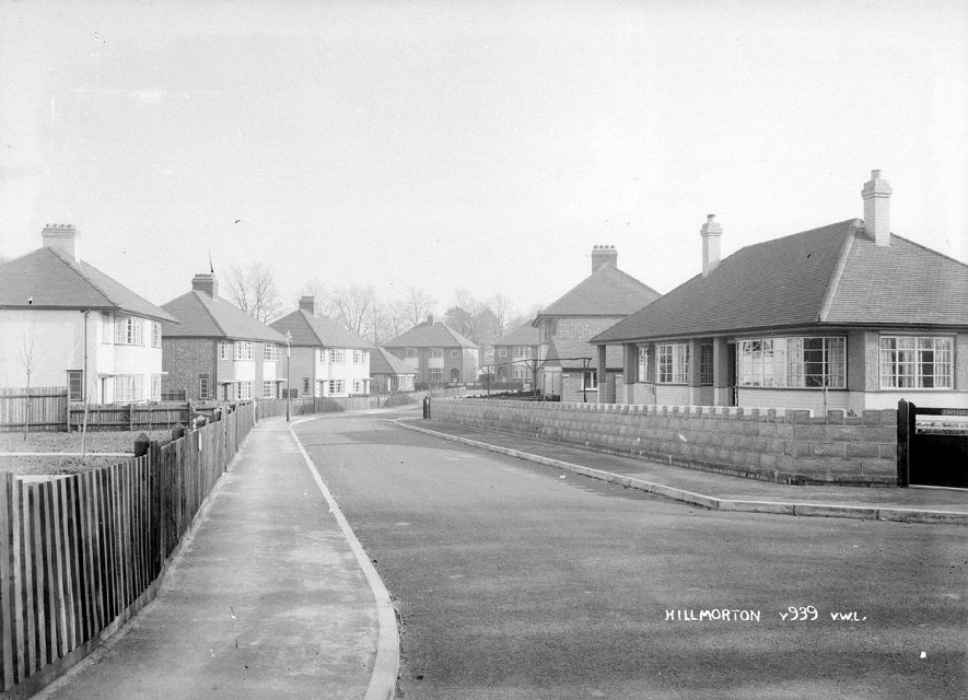 Semi-detached houses in Walford Place, Hillmorton.  1930s |  IMAGE LOCATION: (Warwickshire County Record Office)
