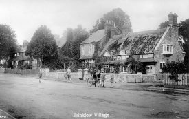 Brinklow village showing cottages.  1930s |  IMAGE LOCATION: (Warwickshire County Record Office)