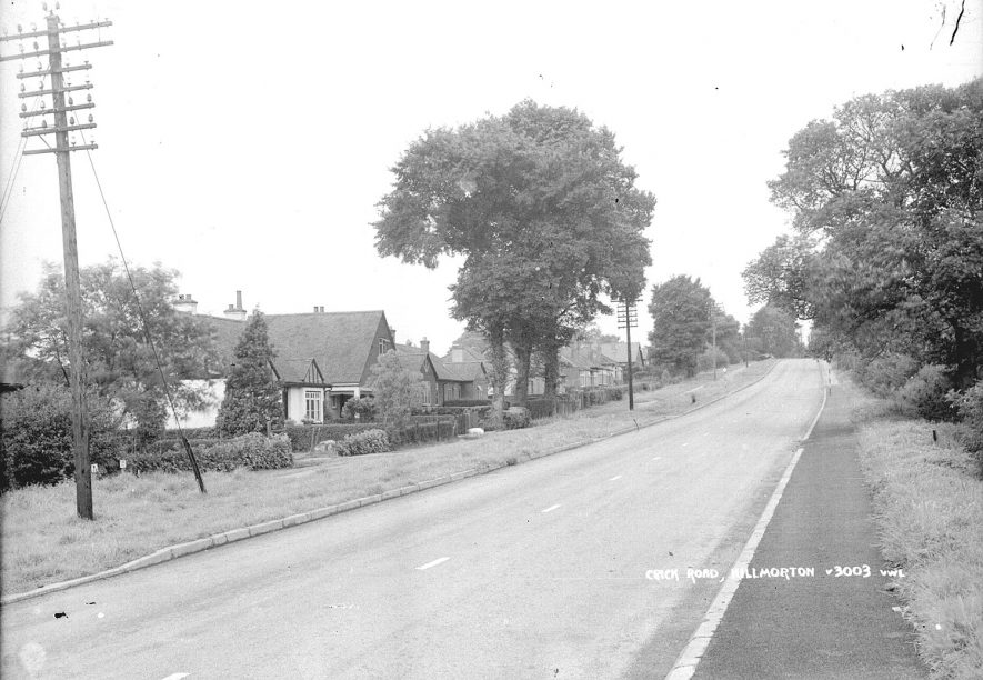 Houses in Crick Road, Hillmorton.  1960s |  IMAGE LOCATION: (Warwickshire County Record Office)