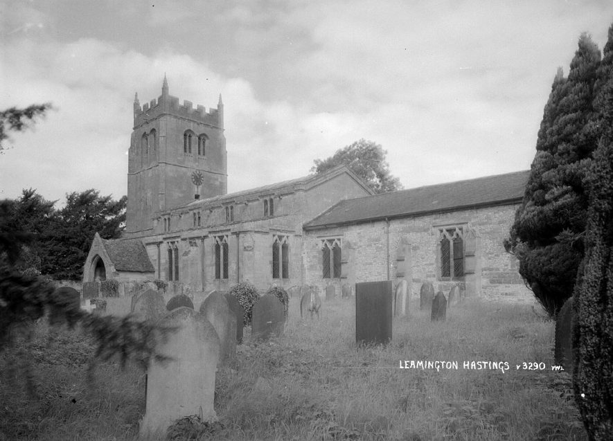 All Saints Church, Leamington Hastings.  1930s |  IMAGE LOCATION: (Warwickshire County Record Office)