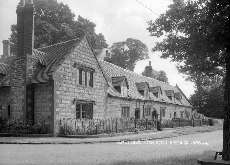The almshouses, Leamington Hastings.  1930s |  IMAGE LOCATION: (Warwickshire County Record Office)