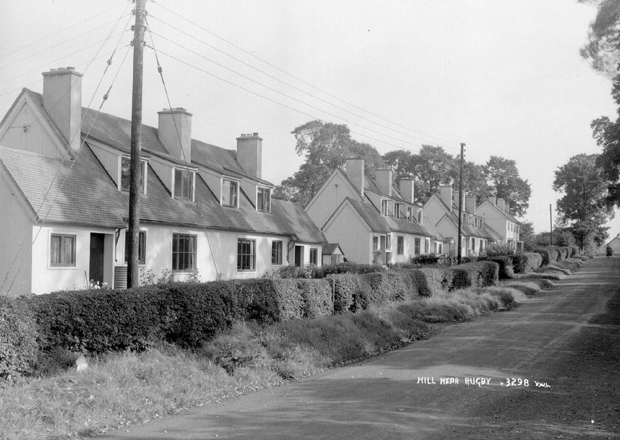 The Hill, Leamington Hastings. 1930s[The house extreme left is No 8, Swedish Houses, Birdingbury Road,owned and lived in by Bill Kimberley. These timber built houses were given as a gift from the Swedish Government in recognition of Great Britain's efforts during WW2. They came in kit form and were built by local builders. These houses were built 1946/1947.] |  IMAGE LOCATION: (Warwickshire County Record Office)