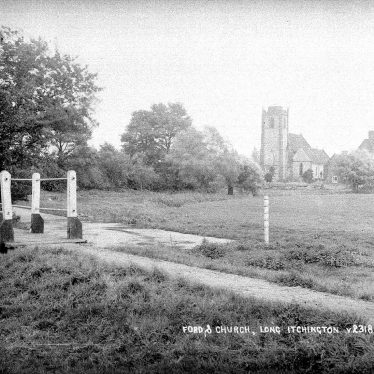 Long Itchington.  Ford and church