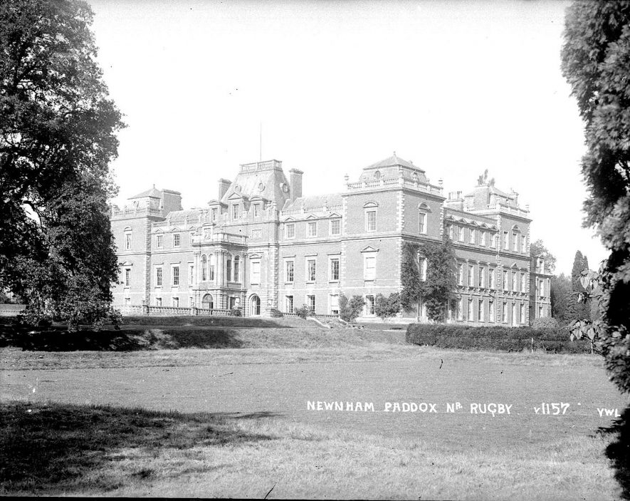 Newnham Paddox belonging to the Earl of Denbigh.  Demolished 1952.  1920s |  IMAGE LOCATION: (Warwickshire County Record Office)
