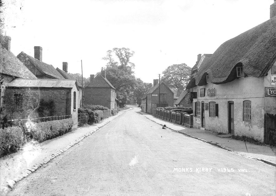 Village street and shop in Monks Kirby.  1950s |  IMAGE LOCATION: (Warwickshire County Record Office)