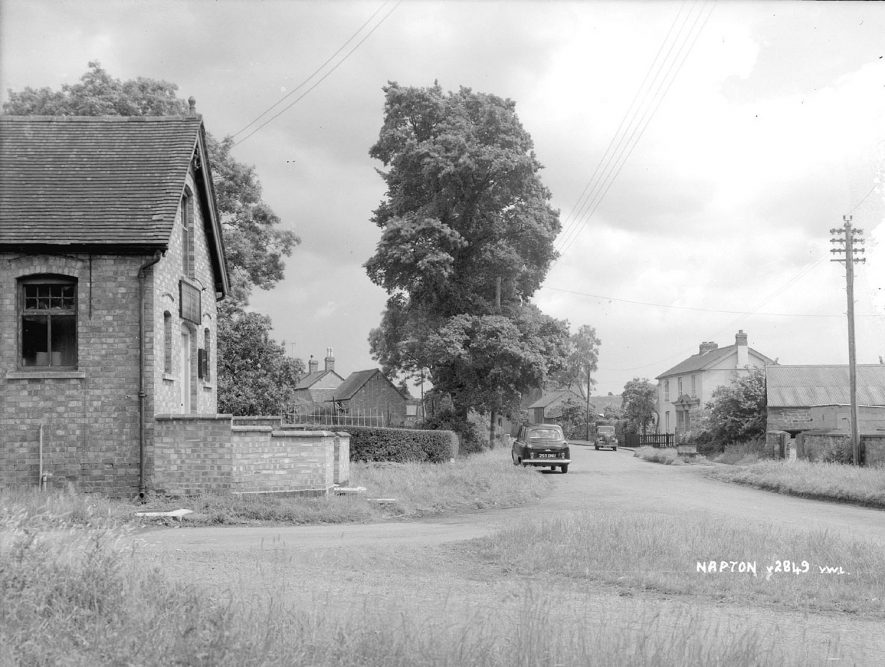 An unidentified chapel in Napton on the Hill.  1950s   [This is the Christadelphian meeting room at the junction of New St. and Howcombe Lane.] |  IMAGE LOCATION: (Warwickshire County Record Office)
