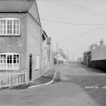 Newton.  Houses and street