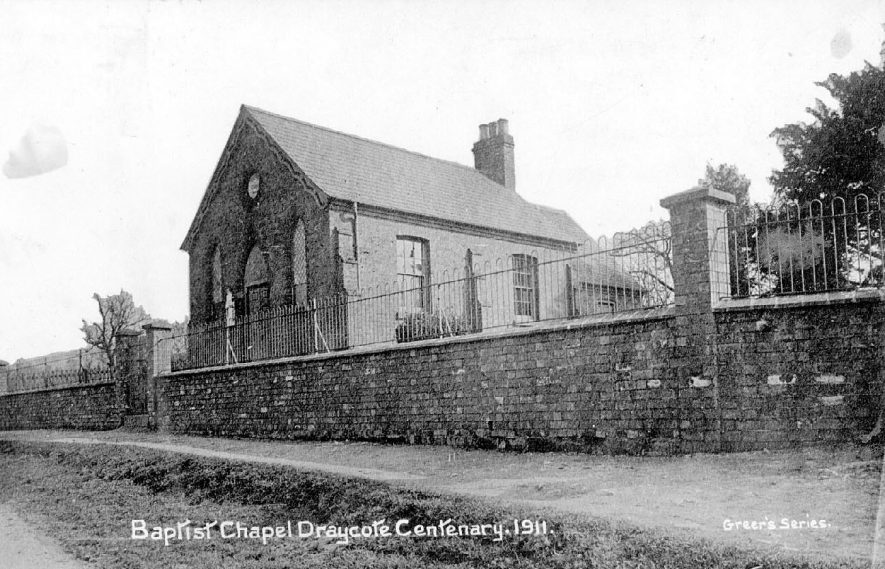 Draycote Baptist chapel at the centenary in 1911 |  IMAGE LOCATION: (Warwickshire County Record Office)