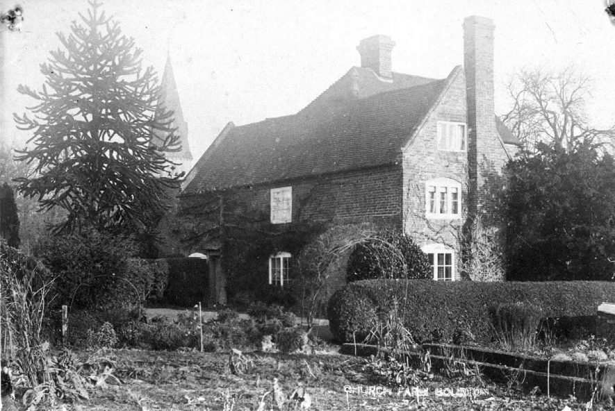 Church Farm, Bourton on Dunsmore, and garden.  1900s |  IMAGE LOCATION: (Warwickshire County Record Office)