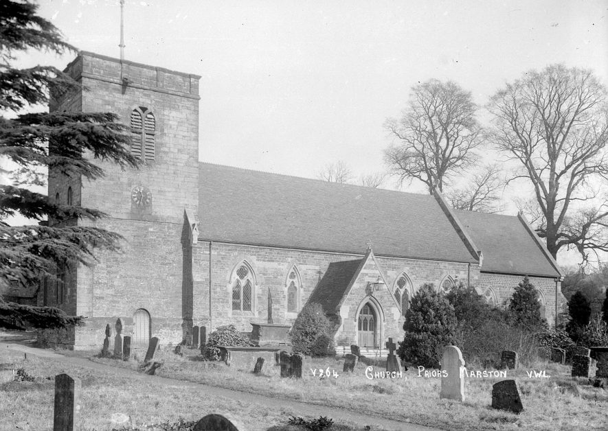 The parish church and part of churchyard, Priors Marston.  1926 |  IMAGE LOCATION: (Warwickshire County Record Office)