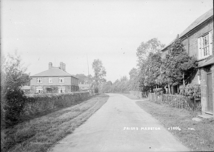 Unidentified village street in Priors Marston.  1920s |  IMAGE LOCATION: (Warwickshire County Record Office)
