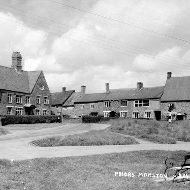 Priors Marston.  Road junction and cottages