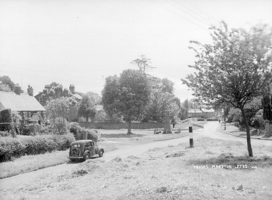 View of Priors Marston from near the war memorial.  1950s |  IMAGE LOCATION: (Warwickshire County Record Office)