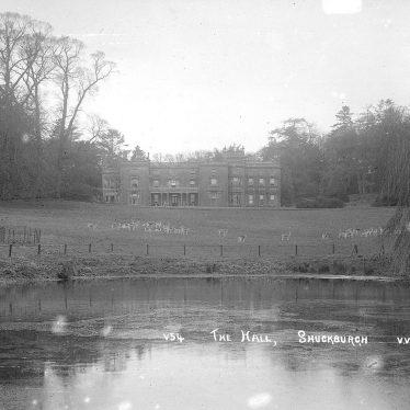 Shuckburgh Park.  Hall and Lake