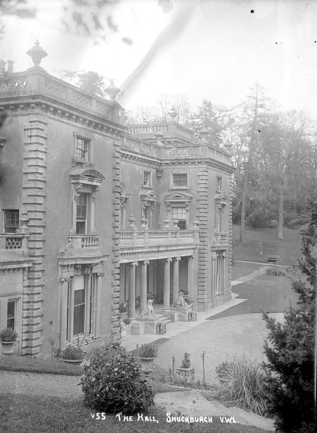 Shuckburgh Hall, Shuckburgh Park.  1930s |  IMAGE LOCATION: (Warwickshire County Record Office)