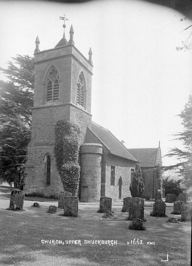 St John the Baptist church in Shuckburgh Park.  1930s |  IMAGE LOCATION: (Warwickshire County Record Office)