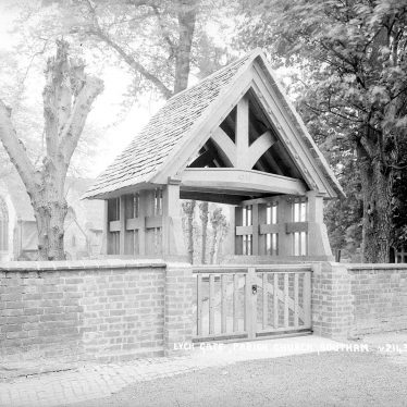 Southam.  Church, lych gate