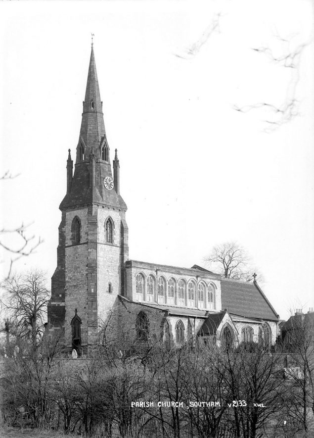 Parish Church of St James, Southam.  1930s |  IMAGE LOCATION: (Warwickshire County Record Office)