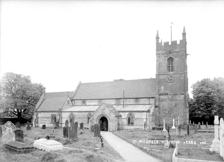 St Michael's Church  Stockton.  1930s    IMAGE LOCATION: (Warwickshire County Record Office)