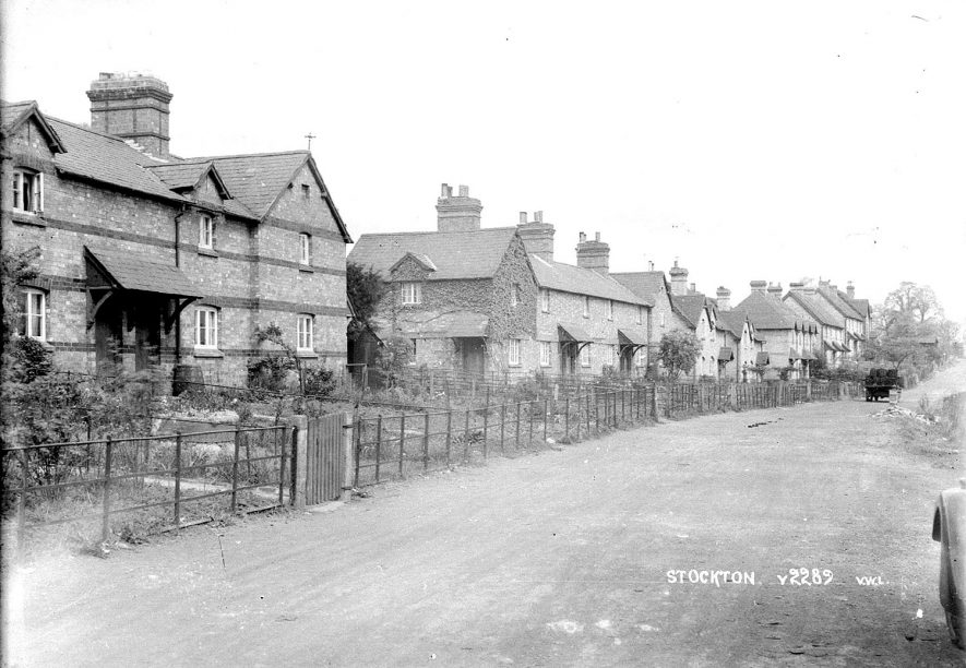 Houses in Elm Row, Stockton.  1930s |  IMAGE LOCATION: (Warwickshire County Record Office)