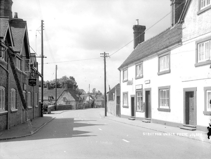 Union Jack Inn and Post office and Stores, Stretton under Fosse.  1930s |  IMAGE LOCATION: (Warwickshire County Record Office)