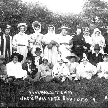 Brailes, Lower.  Football team in fancy dress