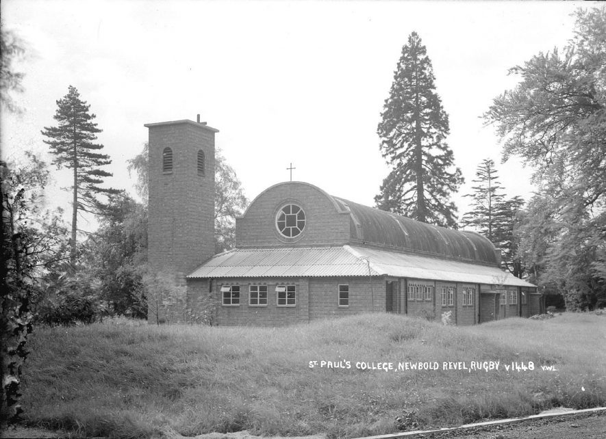 The chapel at St Paul's College, Newbold Revel, Stretton under Fosse.  1940s |  IMAGE LOCATION: (Warwickshire County Record Office)