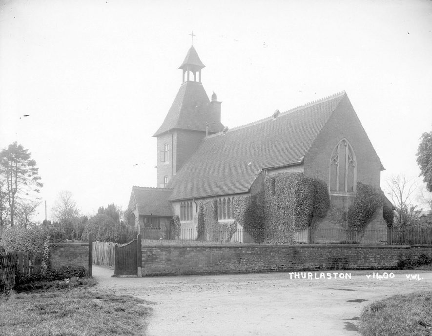 St Edmund's church, Thurlaston.  1930s |  IMAGE LOCATION: (Warwickshire County Record Office)