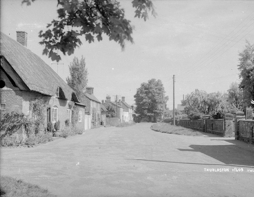 Cottages in Main Street, Thurlaston, looking north, with