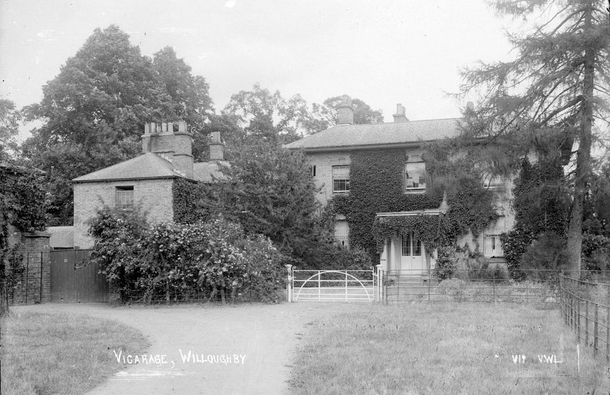 The vicarage at Willoughby.  1930s |  IMAGE LOCATION: (Warwickshire County Record Office)