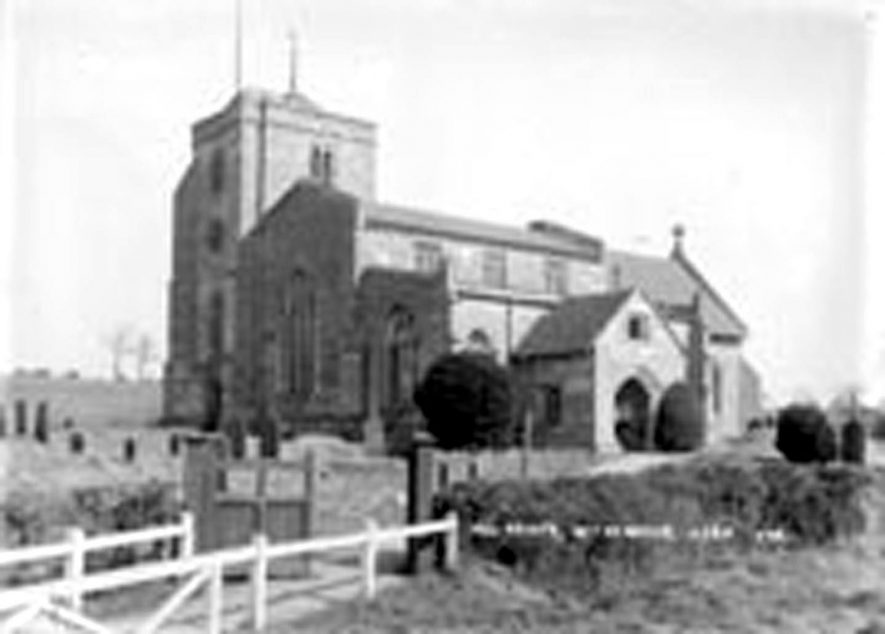 All Saints Parish Church, Withybrook.  1936    IMAGE LOCATION: (Warwickshire County Record Office)