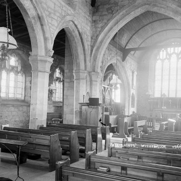 All Saints Church, Willoughby. interior