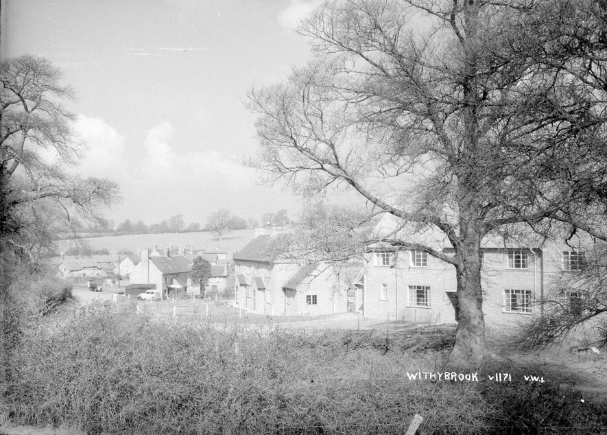 A view of semi-detached houses in Withybrook.  1950s    IMAGE LOCATION: (Warwickshire County Record Office)