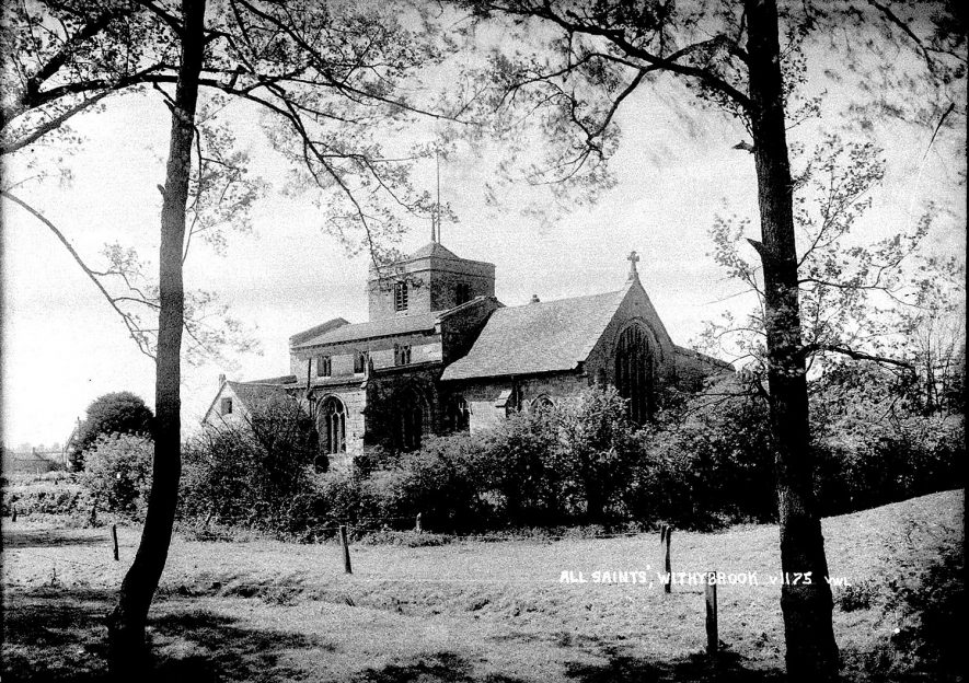 All Saint's church, Withybrook.  1930s |  IMAGE LOCATION: (Warwickshire County Record Office)