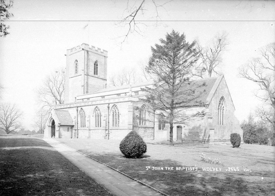 St John the Baptist church, Wolvey.  1950s |  IMAGE LOCATION: (Warwickshire County Record Office)