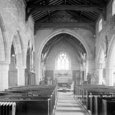 Wolvey.  St John the Baptist church, interior