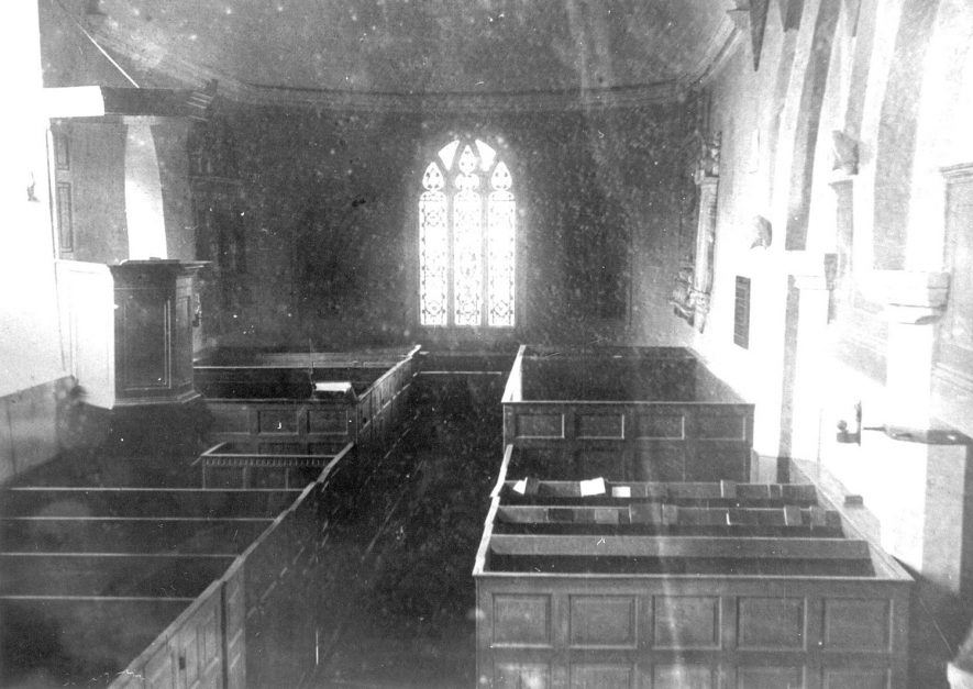 Church interior, Churchover.  1920s |  IMAGE LOCATION: (Warwickshire County Record Office)