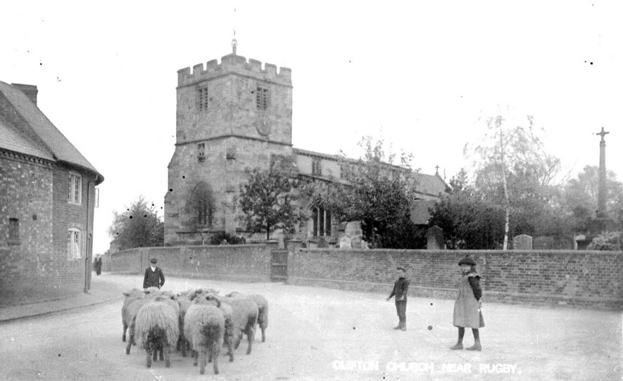 Clifton upon Dunsmore Parish Church.  1920s |  IMAGE LOCATION: (Warwickshire County Record Office)
